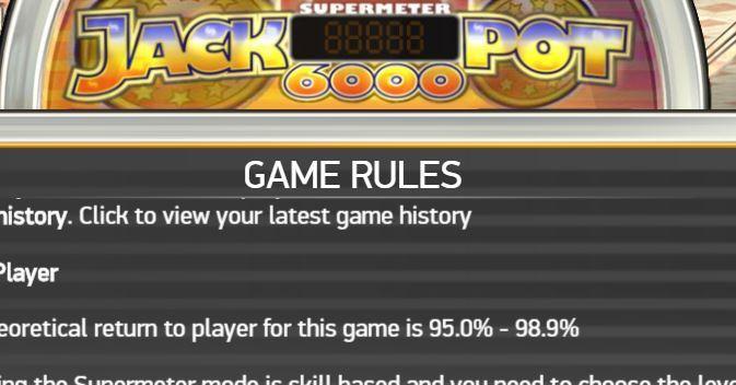 rtp jackpot 6000 gokkast