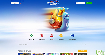 Turbo Casino desktop