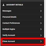 Unibet account verwijderen 2